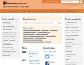 dnrm.qld.gov.au screenshot