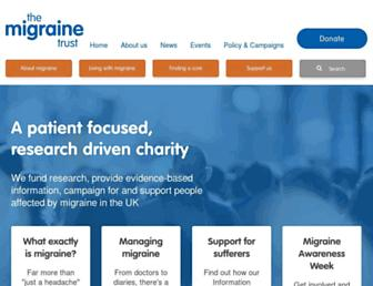 Thumbshot of Migrainetrust.org