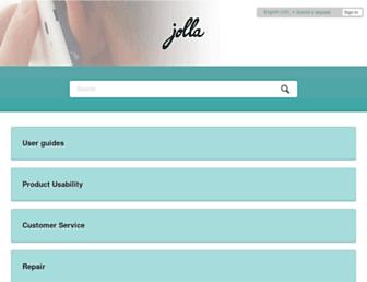 jolla.zendesk.com screenshot