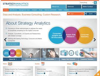 strategyanalytics.com screenshot