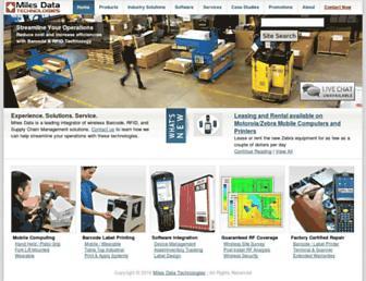 milesdata.com screenshot