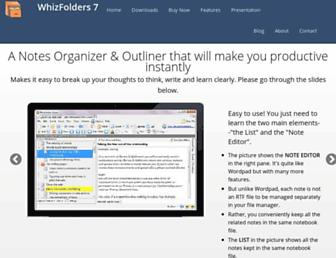whizfolders.com screenshot