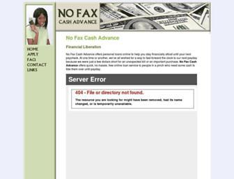 Main page screenshot of e-cash-advance.net