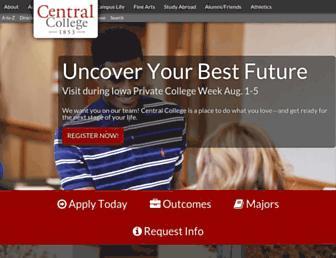 central.edu screenshot