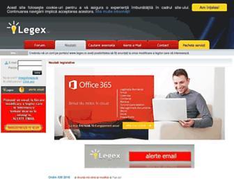 legex.ro screenshot