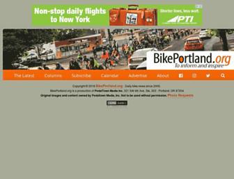 Main page screenshot of bikeportland.org