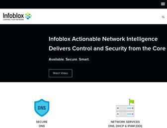 infoblox.com screenshot