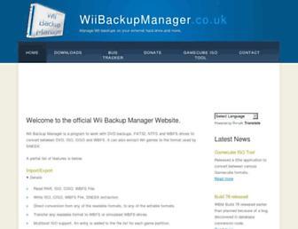 wiibackupmanager.co.uk screenshot