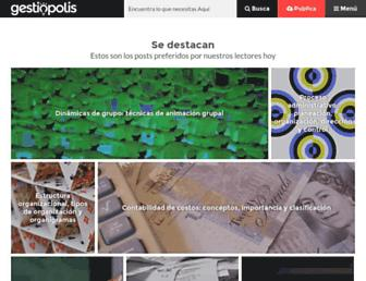 gestiopolis.com screenshot