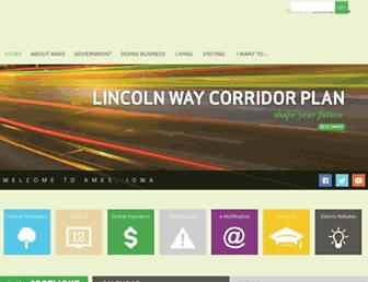 Main page screenshot of cityofames.org