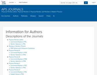 authors.aps.org screenshot