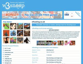 xlhosting.co.uk.w3snoop.com screenshot