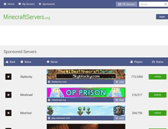 Screenshot for minecraftservers.org