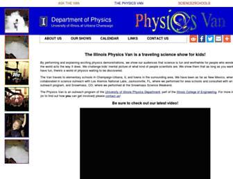 van.physics.illinois.edu screenshot