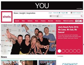 Main page screenshot of shots.net