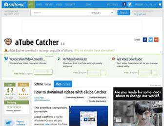 atube-catcher.en.softonic.com screenshot