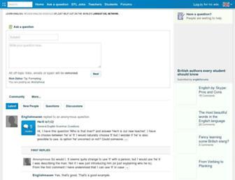 englishforums.com screenshot