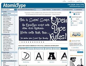 atomictype.co.uk screenshot