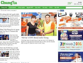 Main page screenshot of chungta.vn
