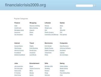 Main page screenshot of financialcrisis2009.org
