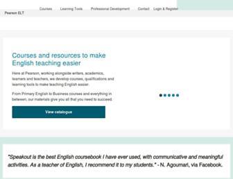 product.pearsonelt.com screenshot