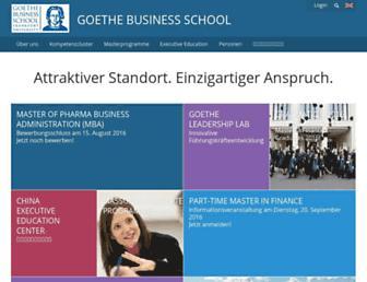 goethe-business-school.de screenshot