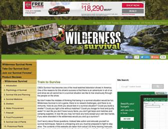 Main page screenshot of wilderness-survival.net