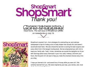 Main page screenshot of shopsmartmag.org