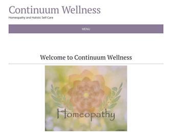 Main page screenshot of continuumwellness.org