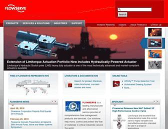 flowserve.com screenshot