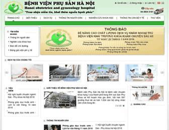 benhvienphusanhanoi.vn screenshot