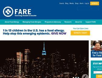 Thumbshot of Foodallergy.org