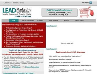 leadmarketingconference.com screenshot