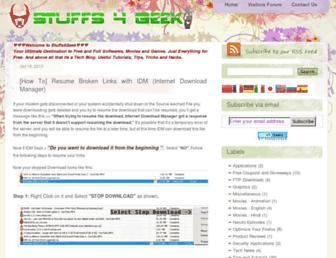 stuffs4geek.blogspot.com screenshot