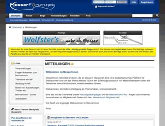 Main page screenshot of messerforum.net
