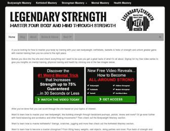 legendarystrength.com screenshot