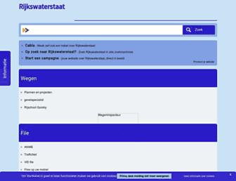 Main page screenshot of rijkswaterstaat.startkabel.nl