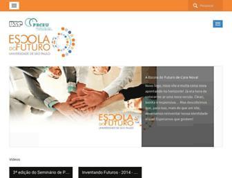 Main page screenshot of futuro.usp.br
