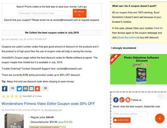 coupons.ivoicesoft.com screenshot