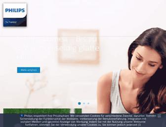 philips.ch screenshot