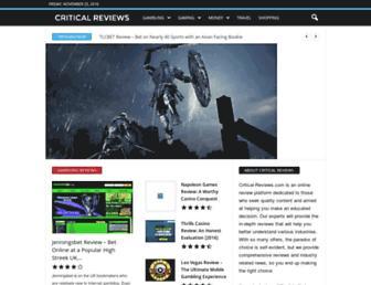 critical-reviews.com screenshot