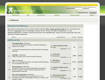 Main page screenshot of xhtmlforum.de