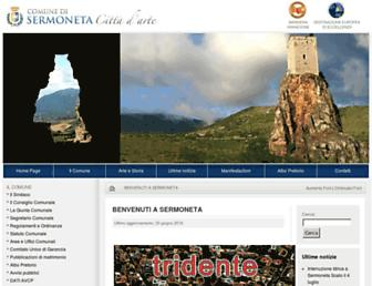 Main page screenshot of comunedisermoneta.it