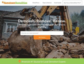 hometowndemolitioncontractors.com screenshot