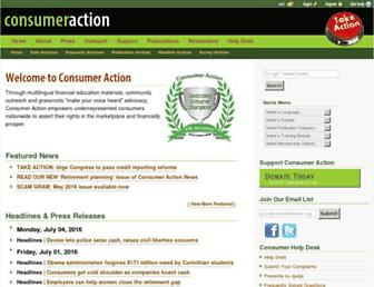 Thumbshot of Consumer-action.org