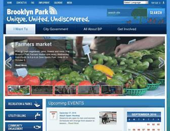 Main page screenshot of brooklynpark.org