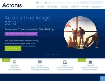 Thumbshot of Acronis.com.sg