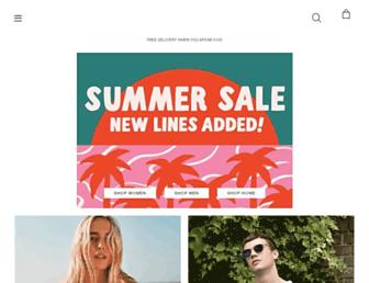 Main page screenshot of urbanoutfitters.co.uk