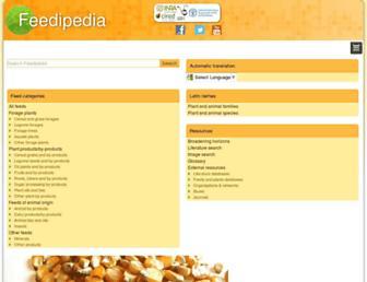 feedipedia.org screenshot