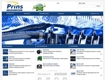 prinsautogas.com screenshot